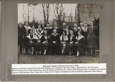 Ballymena Academy, Staff and Governors, c. 1930